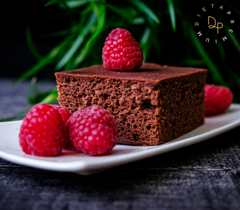 Dieta Premium - fit brownie z malinami